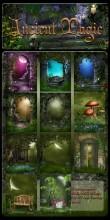 Ancient Magic Digital Backgrounds