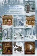 Christmas Wonderland Digital Backgrounds