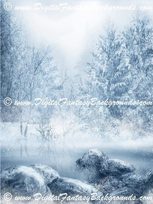 Winter Dream Digital Photography Backgrounds!